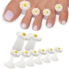 Toe Separators for Nail Polish, Soft Silicone Toe Separators Pedicure, Foot Finger Divider Tool 8 pcs