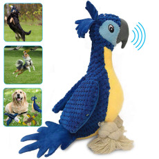 Plush Squeaking Dog Toys, Durable Corduroy Dog Chew Toys, Stuffed Toys with Squeaker for Dog Cat