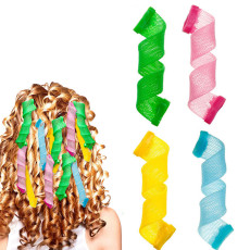 Magic Hair Curlers, No Heat DIY Hair Roller Curling Set, Spiral Curls Styling Kit for Girl Women 20 pcs