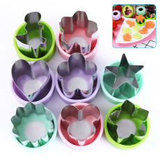 Vegetable Cutter Shapes Set, Mini Cookie Cutter Shapes, Shaped Treats Food Fruit Cutter Mold for Kids