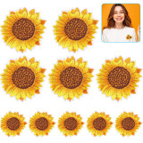 sunflower embroidered patch- wtowin.com