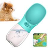 Portable Pet Dog Water Bottle, Travel Puppy Dog Drinking Bowl, Outdoor Pet Water Dispenser 550ML