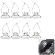 8 pcs Suction Cups with Adjustable Cable Ties, Suction Cups for Aquarium, Fish Tank Suction Cups