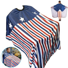 American Flag Pattern Haircut Cape, Professional Barber Cape Waterproof Hairdresser Cape, Haircut Apron