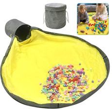 Play Mat and Toy Organizer, Outdoor Collapsible Canvas Storage Bucket, Toy Organizer for Kids Room
