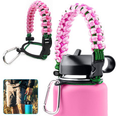 Hydro Flask Water Bottle Safety Ring, Paracord Handle for Wide Mouth Bottles, Hydro Flask Strap 12oz to 64 oz