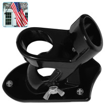 Two-Position Flag Pole Holder, Flag Pole Holder Mounting Bracket, Strong and Rust Free Coated Flag Holder