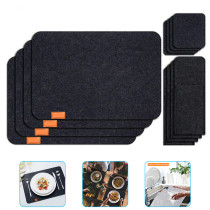Placemats Set for Dining Table,  1 Place Mat and 1 Coaster1 and 1 Cutlery bag, Placemats for Kitchen Table