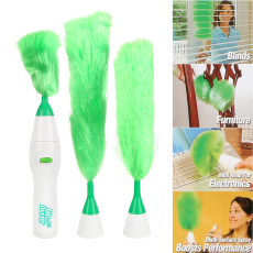 Go Duster Electric Cleaning Brush Set, Multifunctional Electric Feather Duster, Handheld Dust Cleaner