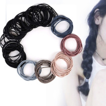 100 pcs Women's Elastic Hair Ties, Rubber Hair Bands, Ponytail Holder Hair Band Hair Accessories