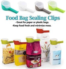 2 pcs Seal Pour Food Storage Bag Clip, Snack Sealing Clip for Keeping Fresh, Plastic Cap Sealer Clips Food Saver