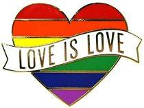 Rainbow Pins Badges, Love is Love Gay Pride Pins, LGBTQ Zinc Alloy Pin Badges for Clothes Bags 2 pcs