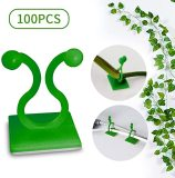 100 pcs Plant Climbing Wall Fixture Clips, Plant Fixer Self-Adhesive Hook, Plant Vine Traction Invisible Wall Vines Fixture