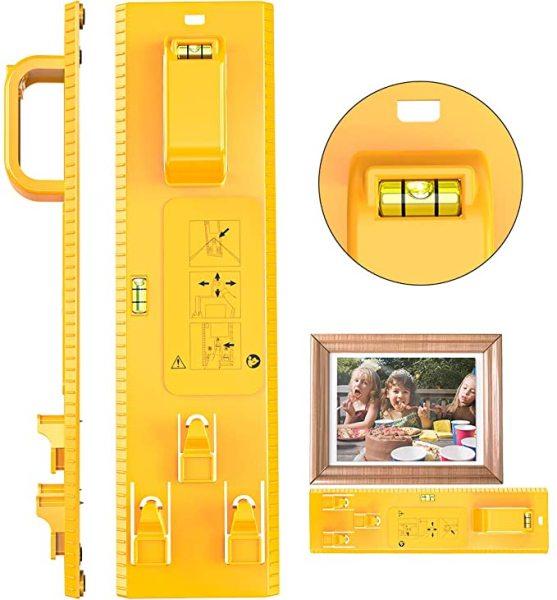 Precise Picture Hanging Tool Kit, Photo Frame Ruler Spirit Level, Picture Frame Level Ruler for Marking Position