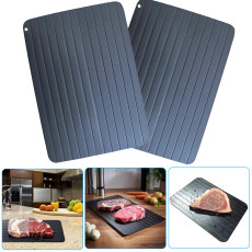Fast Defrosting Tray, Frozen Meat Fish Sea Food Quick Defrosting Plate Board Tray, Safe Thawing Tray