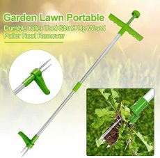 Stand Up Weed Puller, Lawn Weed Puller Tool, Portable Durable Garden Long Handle Root Puller Remover