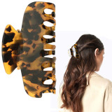 2 pcs Hair Claw Banana Clips, Celluloid French Design Barrettes, Tortoise Shell Cellulose Large Hair Claw Clips