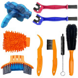 Bike Cleaner Tool Kit, Bicycle Chain Cleaning Brush, 9 pcs Maintenance Tool Cleaning Kit for Tire Corner Clean