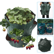 Strawberry Grow Bags, 10 Gallon Garden Growing Bag, DIY Potato Grow Planter Flower Growing Bucket