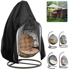 Oxford Cloth Rattan Swing Cover, Patio Hanging Egg Chair Cover, Waterproof Windproof Swing Egg Cover