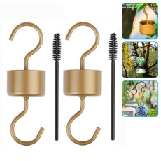 4 Pack Ants Moat for Hummingbird Feeder, Hummingbird Feeder Accessory Hooks with Brushes, Ant Guard for Bird Feeder