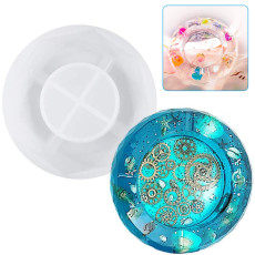 Ashtray Epoxy Resin Casting Molds, DIY Silicone Crystal Ashtray Maker, Square Octagonal Transparent Ashtray Mold