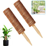 12 Inches Totem Pole Plant Supports, Coco Coir Poles Support Plants Climbing, Coir Moss Pole Stick for Creepers