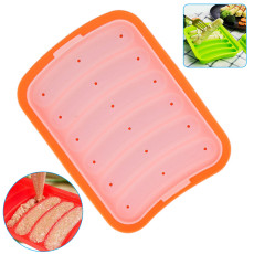 Children's Hot Dog DIY Mold, Silicone Sausage Mold Non-Stick, Egg Sausage and Baby's Supplementary Sausage Mold