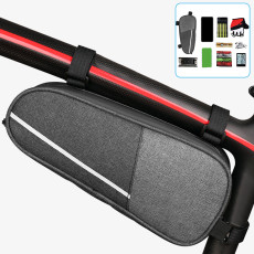 Bicycle Triangle Bag, Wear-resistant Mountain Road Bike Frame Bag, Waterproof Hard Shell Large Capacity Bicycle Bag
