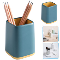 Desk Pen Holder Stand, Two-tone Pencil Organizer,  Multifunctional Makeup Brushes Holder Home Office Stationery