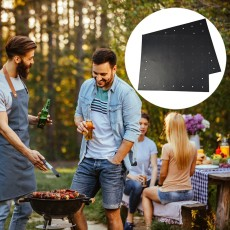 2pcs BBQ Grill Mat Non Stick With Holes, Reusable Mesh Fireproof Grill Mat, Easy to Clean BBQ Teflon Mat