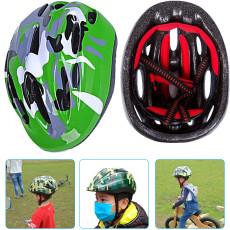 Kids Bike Helmet, Adjustable Breathable Camouflage Safety Helmet, Multi-Sport Adjustable Helmet for Girls Boys