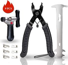 Bike Link Plier+Chain Breaker Splitter+3 Pairs Bicycle Missing Link, Chain Repair Tools for 6/7/8/9/10 Speed Chains