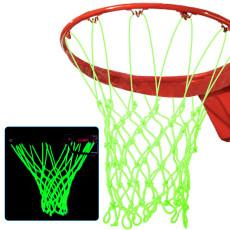 Standard Size Glowing Night Basketball Net, Portable Travel Nylon Basketball Net, Luminous Basketball Net 19.7''