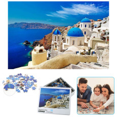 1000 Pieces Aegean Sea Puzzle, DIY Jigsaw Educational Toys, 1000 Pieces Floor Puzzle for Kids Adult