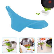 Anti-Spill Silicone Slip On Pour Soup Spout Funnel, Pans Funnel Pots Funnel Jars Funnel, Kitchen Funnel