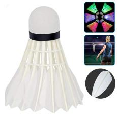 Badminton Birdie LED Badminton Shuttlecocks, Goose Feather Badminton Ball, Colorful Lighting Badminton