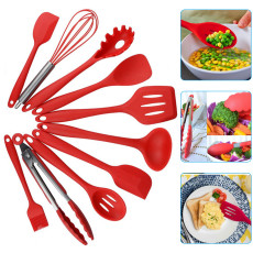 10 pcs Silicone Spatula Set, Heat Resistant Silicone Cookware Set, Non-Stick Kitchen Baking Tools