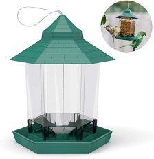 Wild Bird Feeder, Outdoor Bird Feeders Food Container, Hanging Gazebo Bird Feeder For Garden Yard