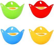 4 pcs Silicone Egg Poacher, Mini Non Stick Egg Poaching Cups, Egg Poacher Pan for Microwave