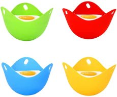 4 pcs Silicone Egg Poacher, Mini Non Stick Egg Poaching Cups, Egg Poacher Pan for Microwave