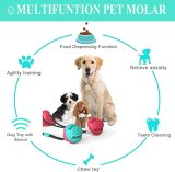 Suction Cup Tug Dog Toy, Dogs Push Ball Toy Pet Leakage Food Toys, Pet Tooth Cleaning Toothbrush Toy