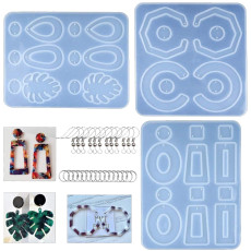 3 PCS Earring Silicone Resin Molds, Silicone Casting Molds for DIY Women Earrings, Earring Molds