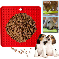 Silicone Dog Feeder Lick Mat, Pet Feeder Licking Pad For Dogs Cats, Pet Boredom Buster Lick Mat
