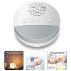 White Noise Machine, Portable USB Rechargeable Sleep Sound Machine, Night Light Volume Control