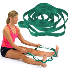 12 Loops Yoga Stretch Strap, Physical Therapists & Athletic Trainers, Multi-Loop Stretch Strap for Pilates
