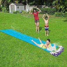 Water Slides for Kids Backyard, Summer Garden Lawn Water Slide, Outdoor Water Toys with Sprinkler