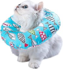 Adjustable Cat Recovery Collar, Soft Cone for Cat's Head Wound Healing, Elizabethan Collars for Pets