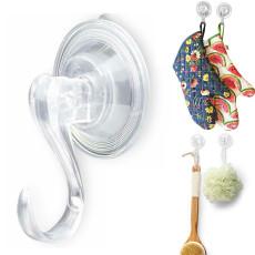 Suction Cup Hooks, Reusable Heavy Duty Vacuum Suction Cup Hooks, Kitchen Bathroom Hooks 4pcs