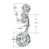 belly button rings- 316L stainless steel navel ring- wtowin.com